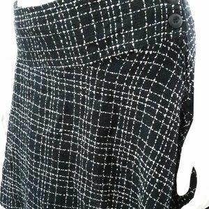 Torrid Black/White Tweed Rockabilly Skirt sz18